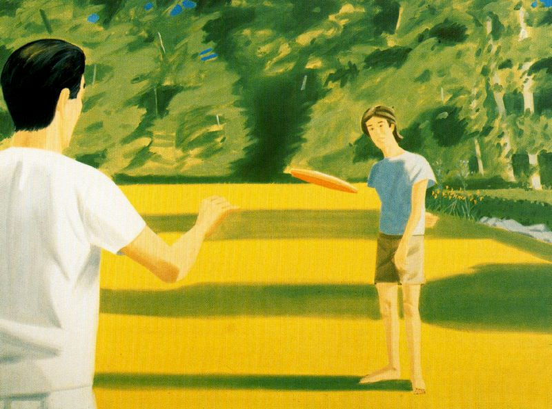 Alex Katz. Pass from behind