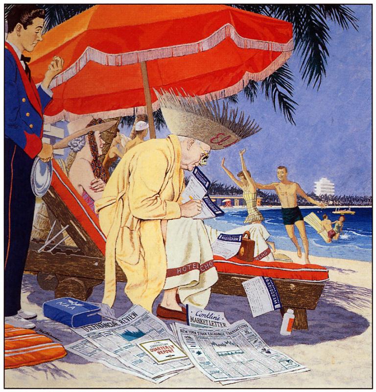 Джеймс Уильямсон. На пляже