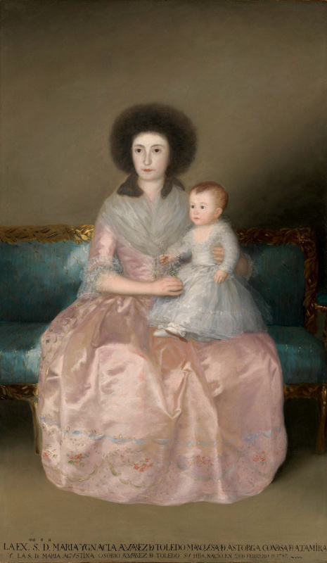 Франсиско Гойя. Портрет герцогини Альтамира с дочерью Марией Августиной