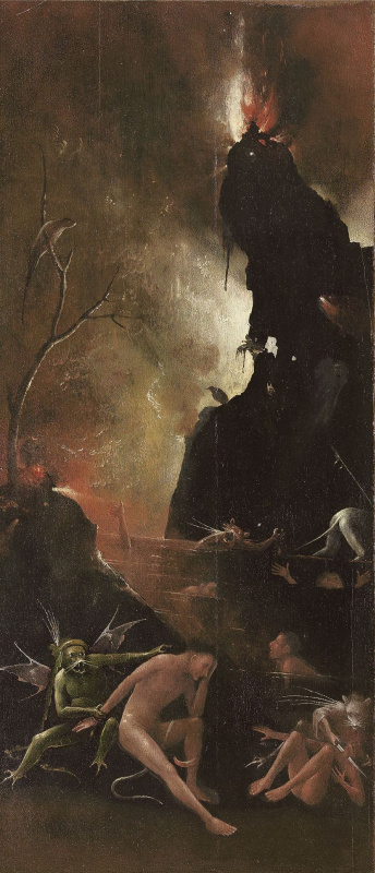Hieronymus Bosch. Hell of a river. The polyptych Visions of the underworld (Blessed and cursed). The right panel