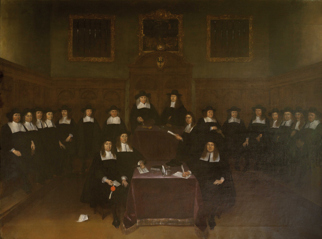 Gerard Terborch (ter Borch). Portrait of Deventer Magistrates