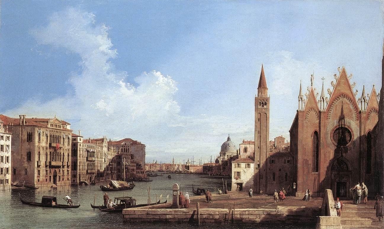 Джованни Антонио Каналь (Каналетто). Гранд-канал от Санта Мария делла Карита