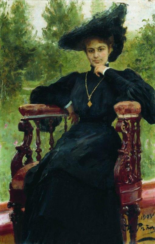 Ilya Efimovich Repin. Portrait Of M. F. Andreyeva