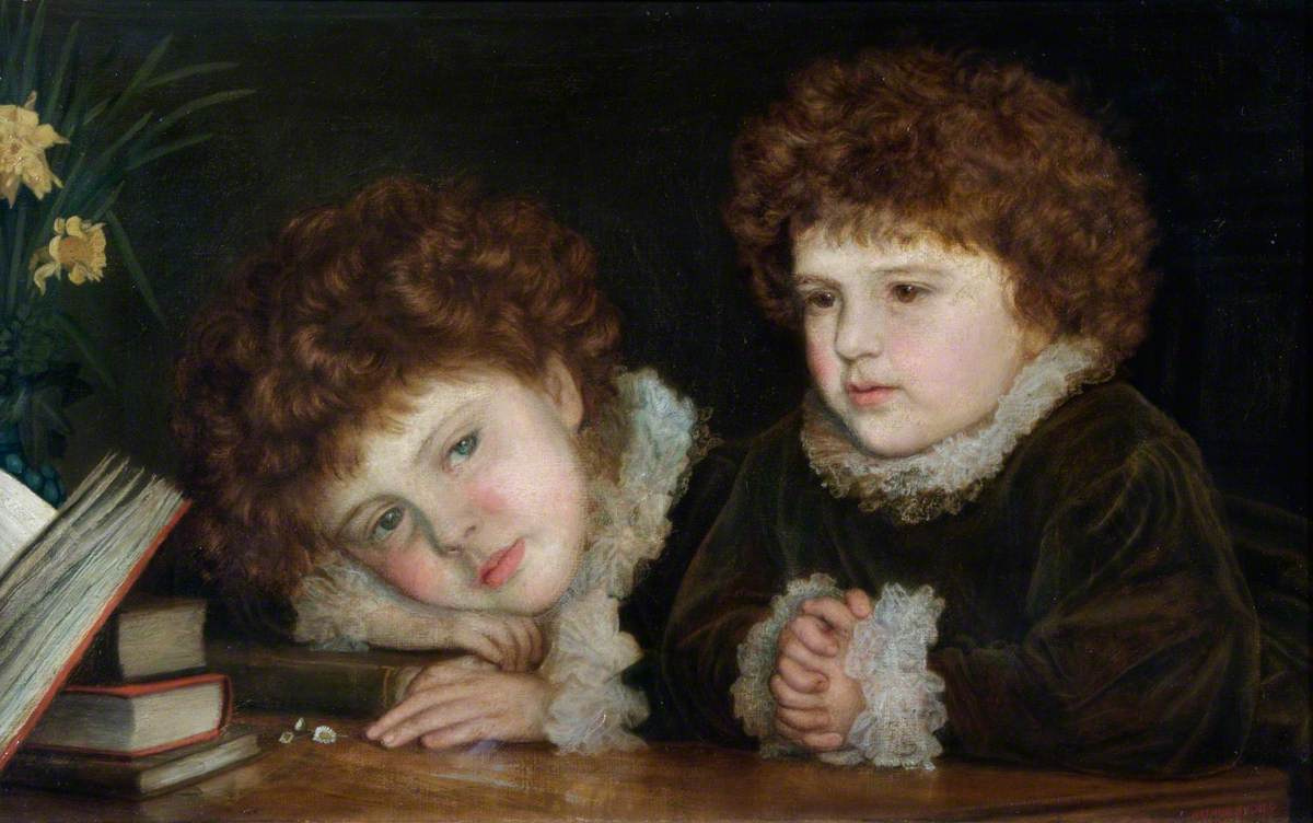 Arthur Hughes. Mabel and Ruth Orrinsmith