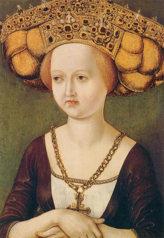 1485 Unknown master. Portrait of Kunigunde Austria