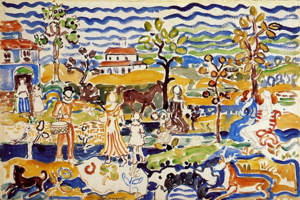 Maurice Braziel Prendergast. Decorative composition