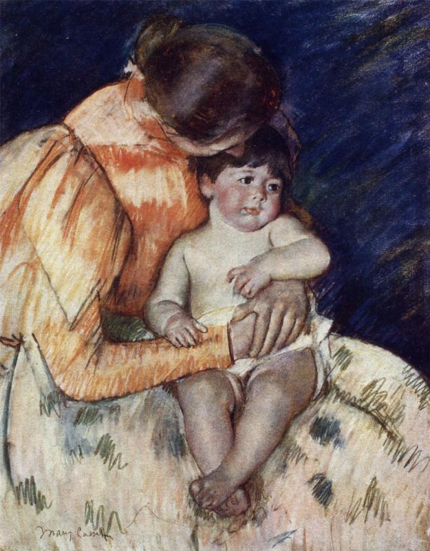 Мэри Кассат. Мать и дитя