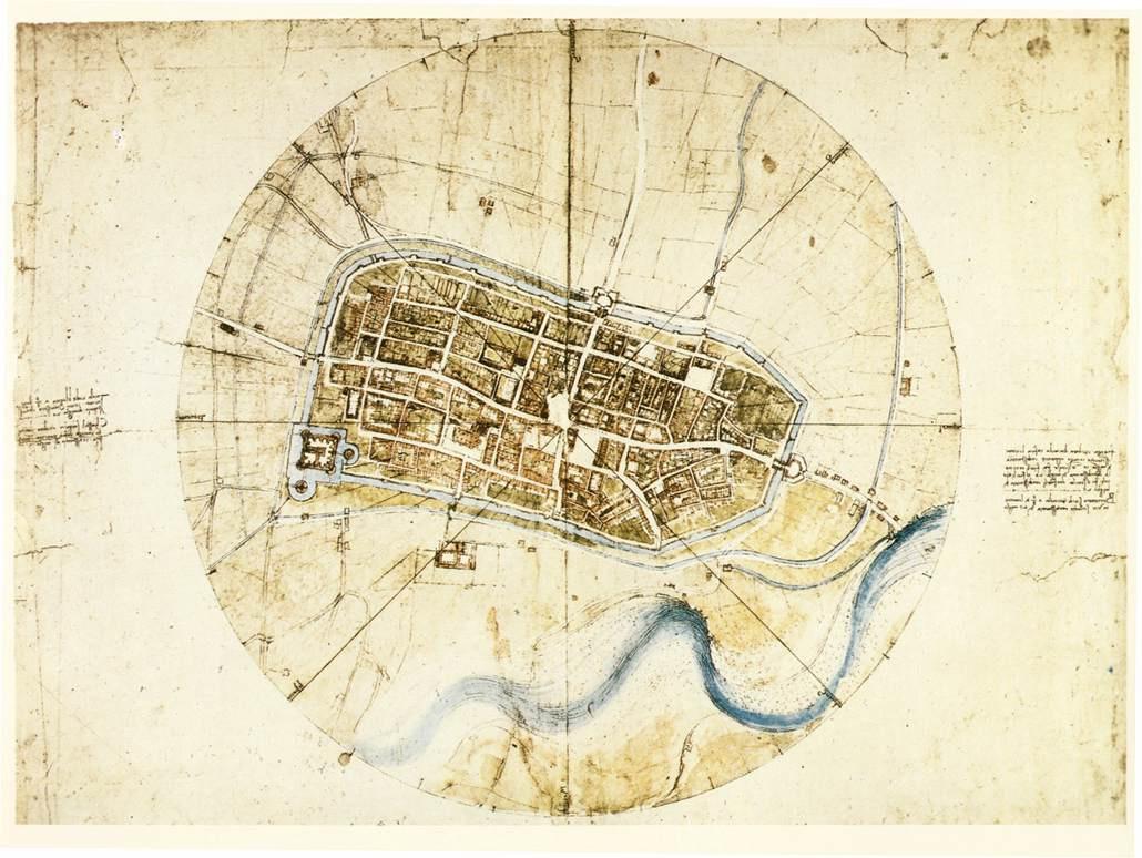 Леонардо да Винчи. План Имолы