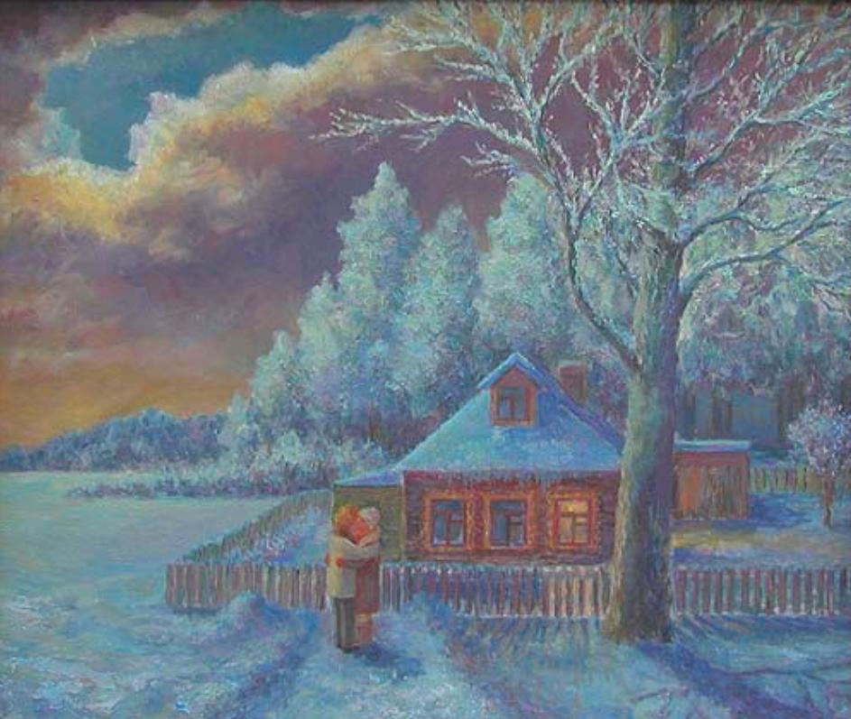 Anatoly Ivanovich Yakhrugin. Winter evening