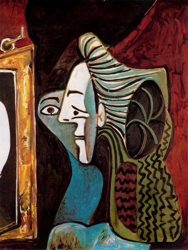 Пабло Пикассо. Женщина перед зеркалом