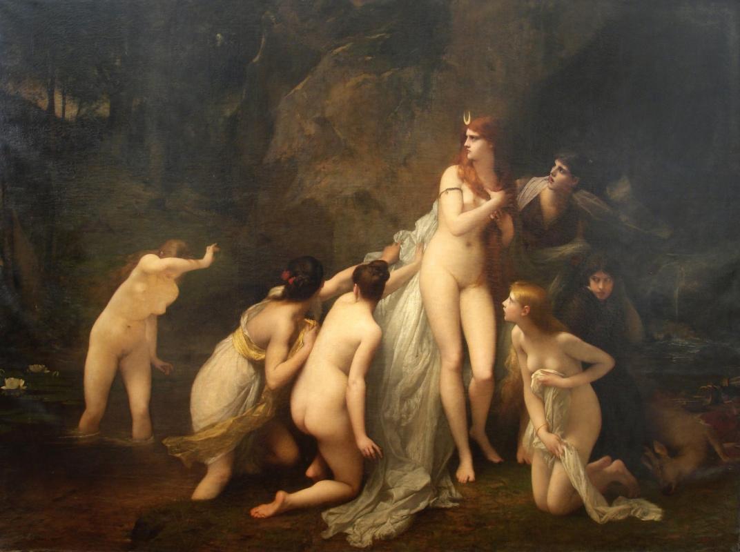 Жюль Жозеф Лефевр. Испуганная Диана.  1879