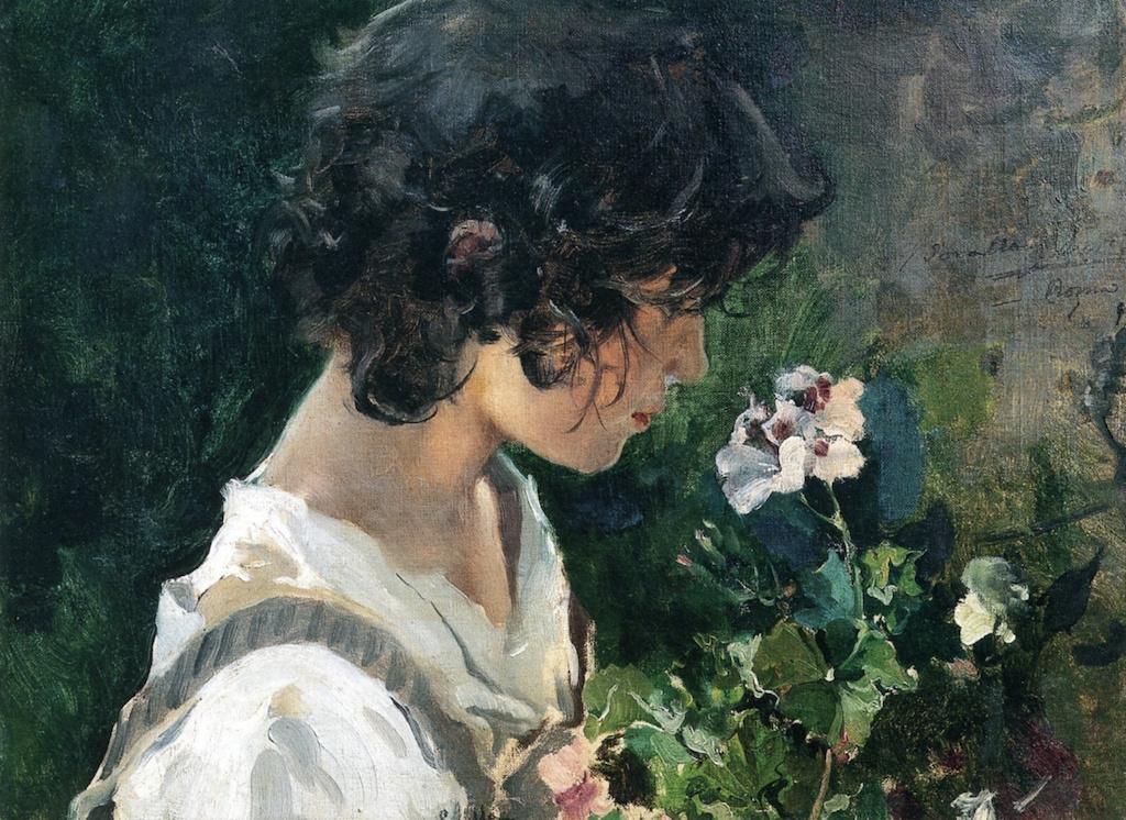 Хоакин Соролья (Соройя). Итальянская девочка с цветами
