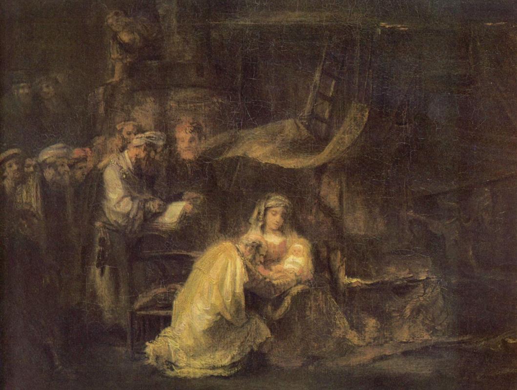 Рембрандт Ван Рейн. Обрезание Христа