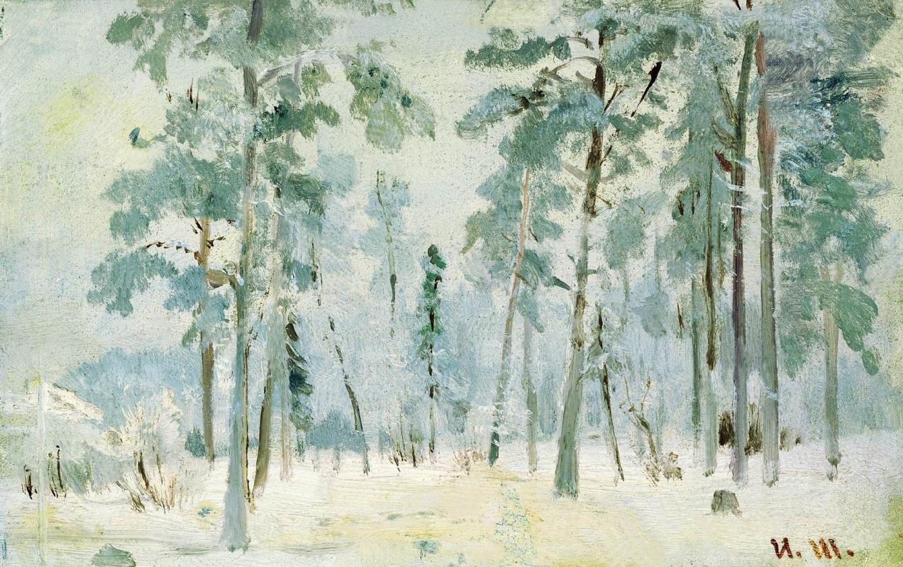 Ivan Shishkin. The woods in frost