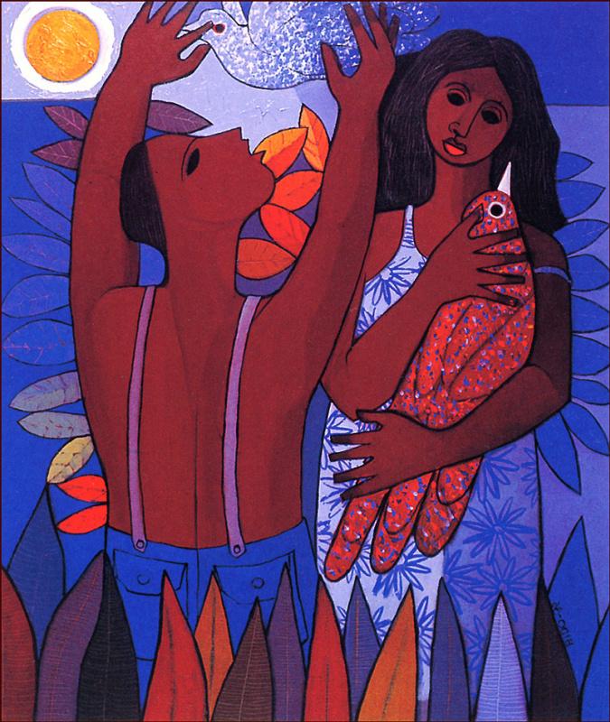 Кандидо Бидо. Адам и Ева
