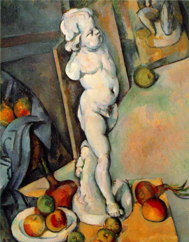 Paul Cezanne. Still life with plaster Cupid