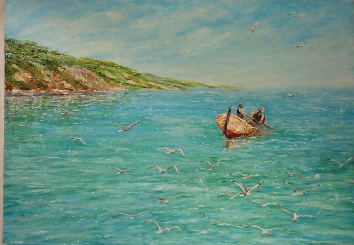 Valery Vladimirovich Pakhomov. The fishermen of the Mediterranean sea territory
