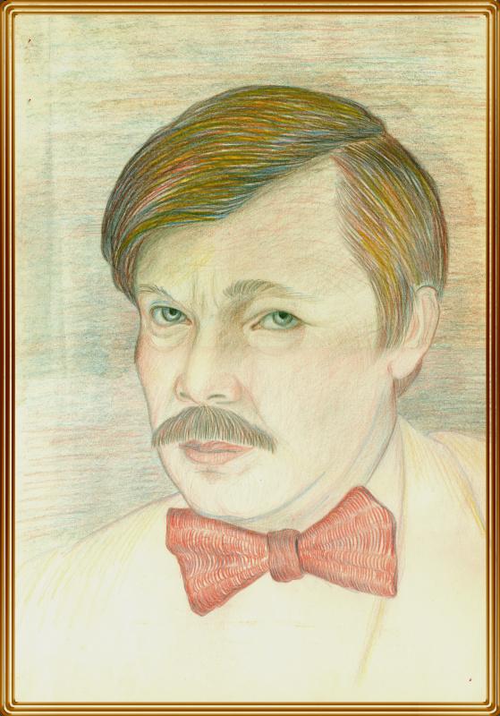 Vladimir Pavlovich Parkin. Автопортрет. 1990.