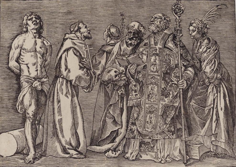 Titian Vecelli. Six Saints