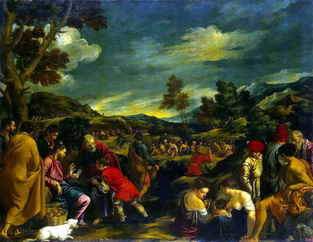 Pedro de Orrente. The miracle of the loaves and fishes