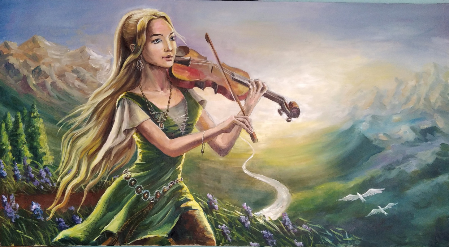 Tizza La Vilia. Violinist