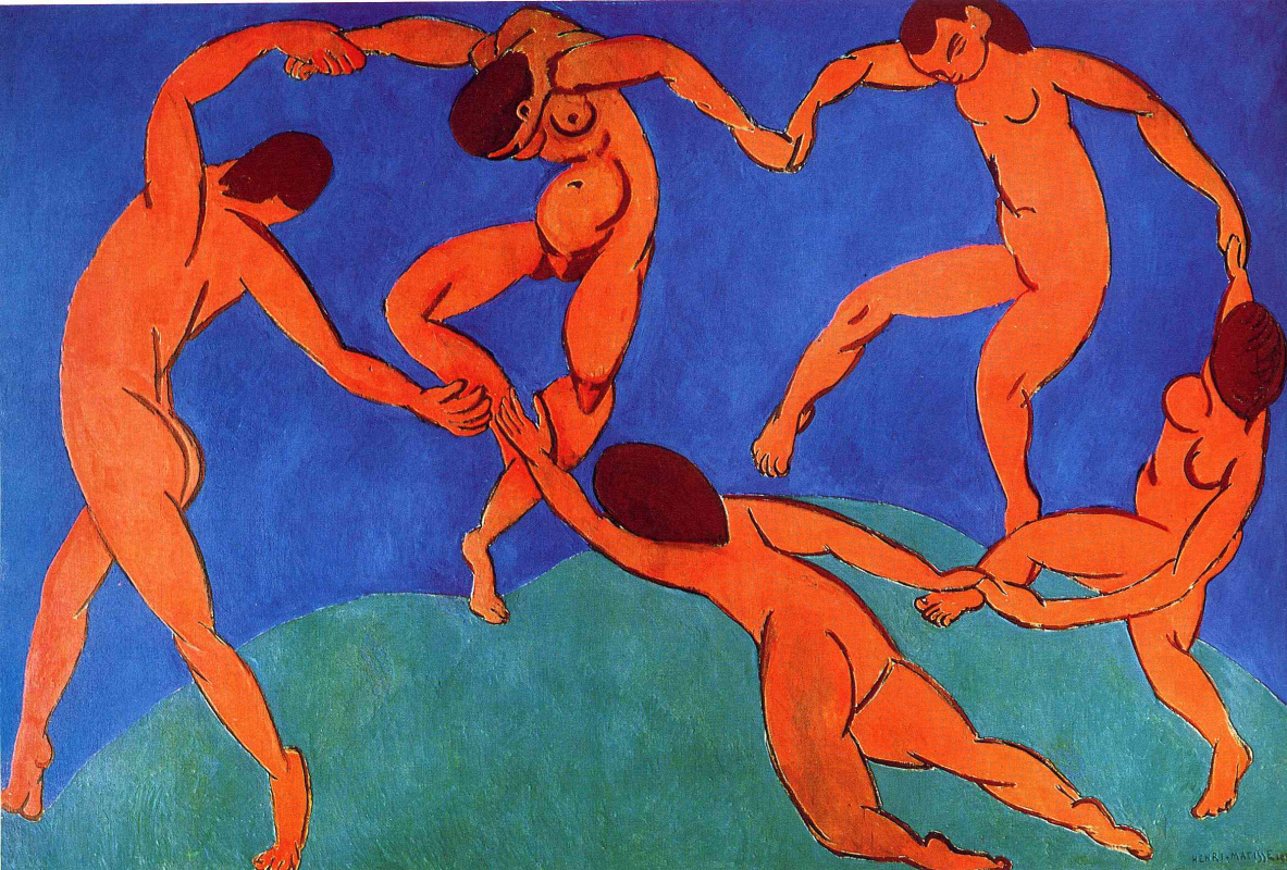 Dance Matisse Painting 1909 Blue Painting