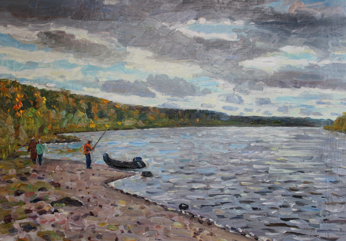 Eugene Alexandrovich Kazantsev. Autumn on the Oka. Polenovo - Bekhovo.