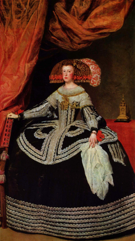 Diego Velazquez. Portrait Of Maria Theresa