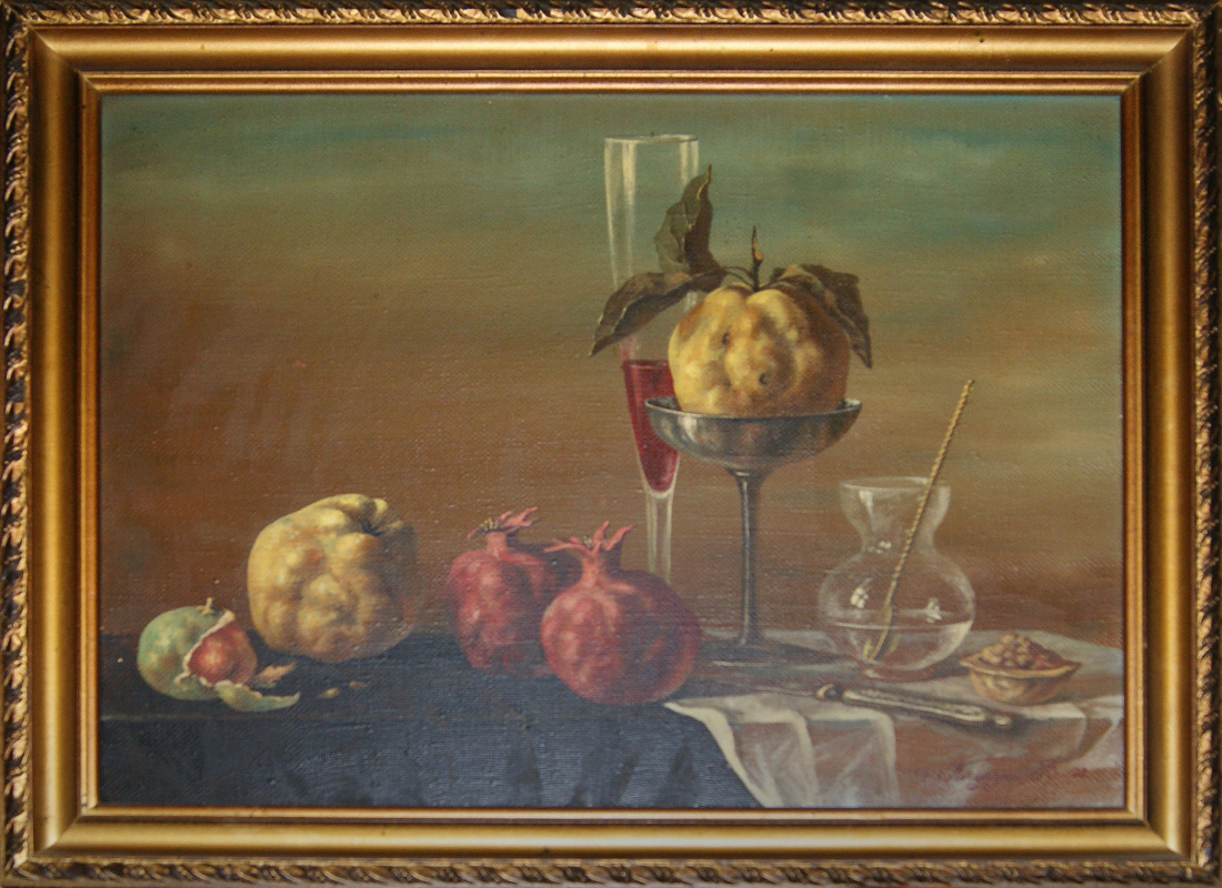 """Vitaly Glebovich Cleroy. """"Quince, pomegranates and a glass of wine"""""""