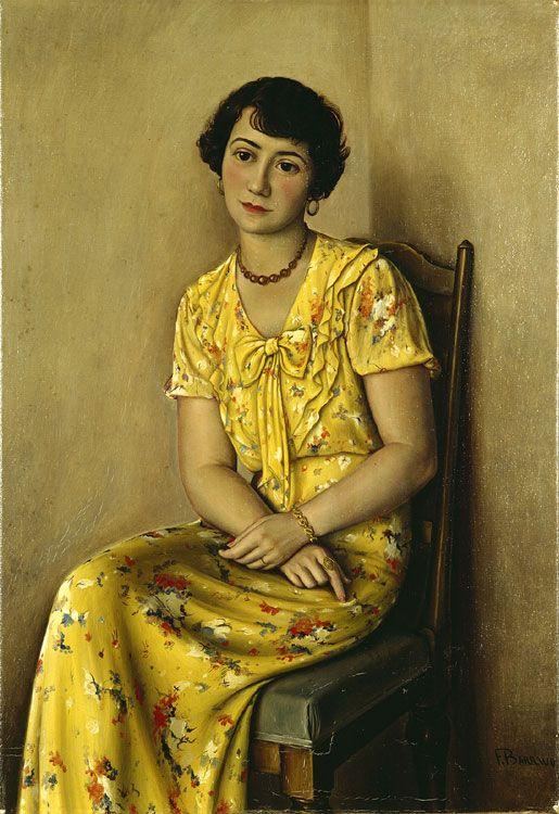 Франсуа-Эмиль Барро. Молодая женщина в желтом (Портрет мадам С.)