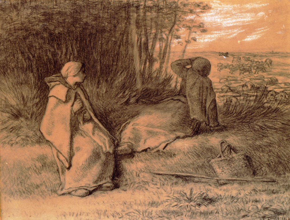 Jean-François Millet. Shepherds in the shade