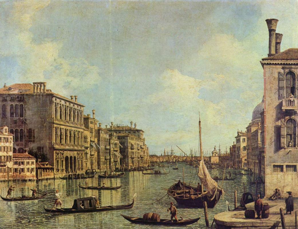 Джованни Антонио Каналь (Каналетто). Вид Большого канала в сторону гавани Сан Марко