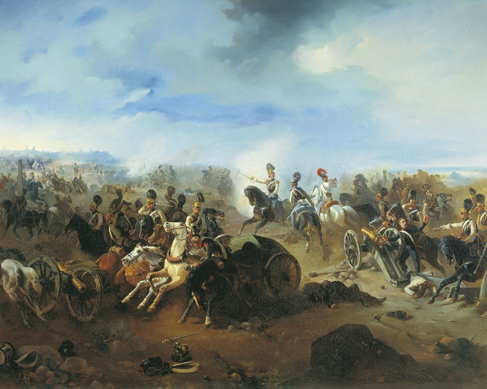 Bogdan Pavlovich Willewalde. Battle of Grokhov. February 13, 1831.