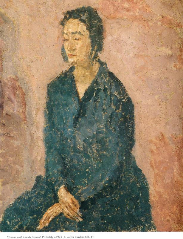 Гвен Джон. Женщина с перекрещенными руками