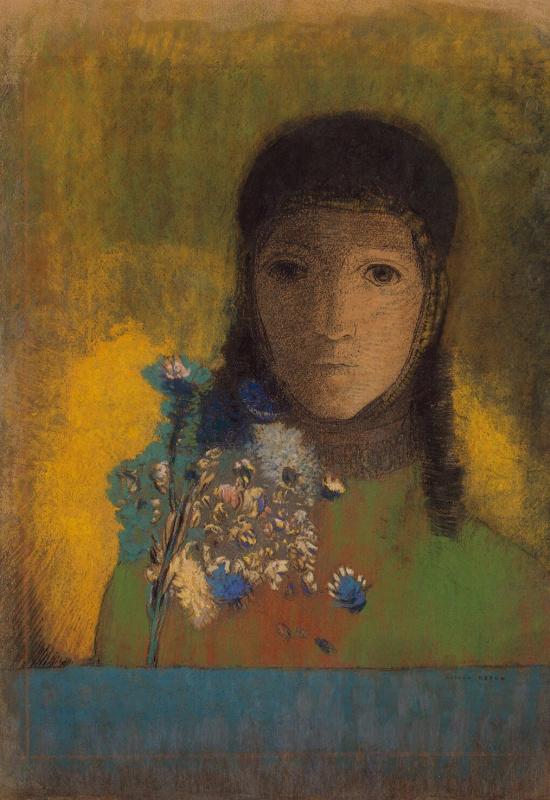 Одилон Редон. Женщина с полевыми цветами