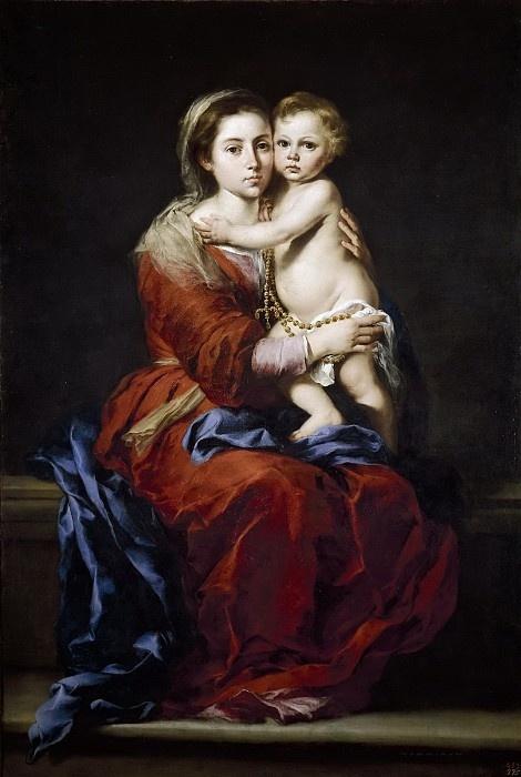 Bartolomé Esteban Murillo. The rosary
