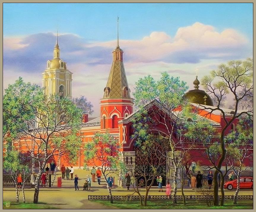 """Vasily Vasilyevich Timofeev. """"Pokrovskiy monastery"""", """"St. Matron"""""""
