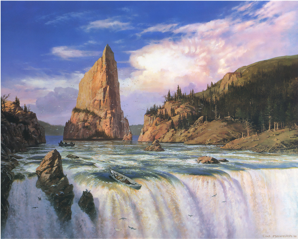 Ted Nasmit. Waterfall