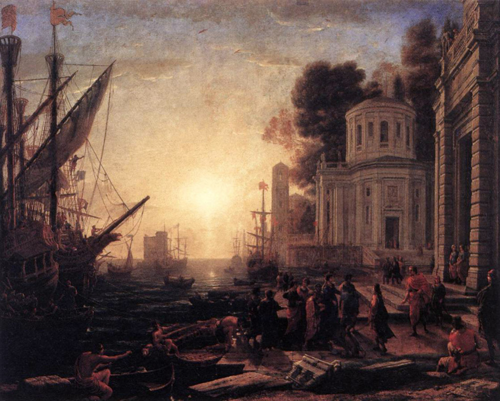 Claude Lorrain. The landing of Cleopatra in Tarsus