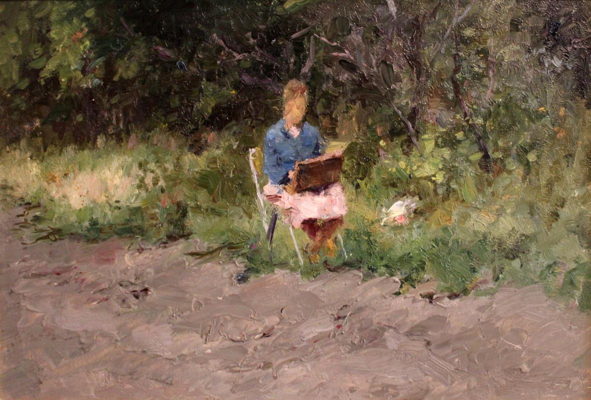 Victor Fedorovich Chudin. In the garden