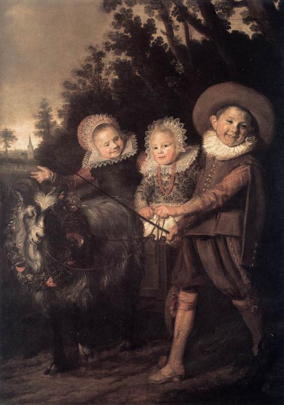 Франс Хальс. Трое детей в повозке, запряженной козлом