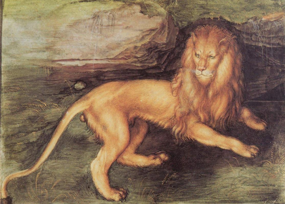 Famous lion paintings