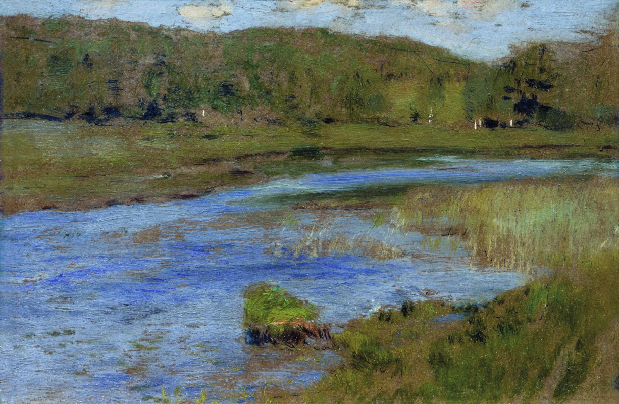 """Isaac Levitan. Windy day. A sketch for the painting """"Lake"""""""