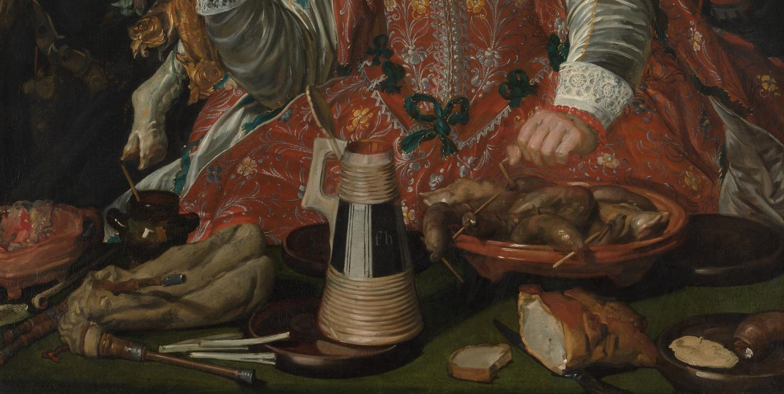Frans Hals. Jolly Shrovetide (Merry Society). Fragment 4. Table