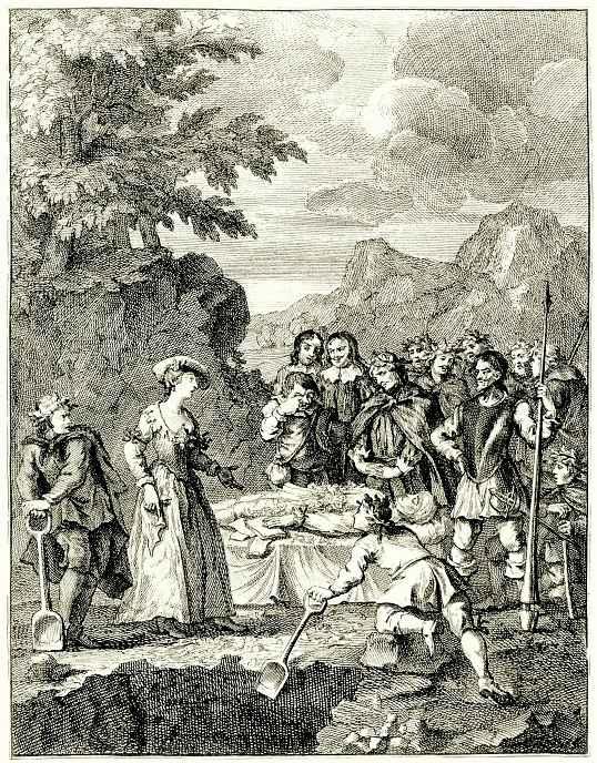 William Hogarth. The Burial Of Chrysostom