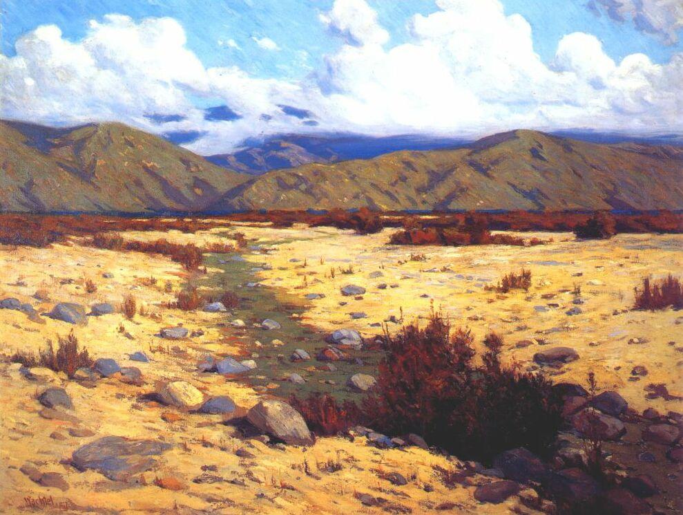 Wachtel. Desert, river, mountains
