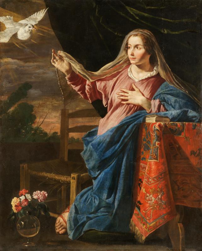 Маттиас Стомер. Благовещение. Дева Мария