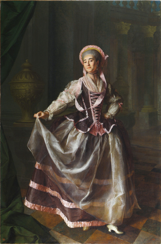 Dmitry Grigorievich Levitsky. Portrait of the pupils of the Imperial educational society for noble maidens, Alexandra Petrovna, Levshino