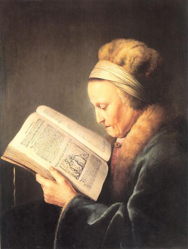 Геррит Доу. Старая женщина за книгой. Мать Рембранта