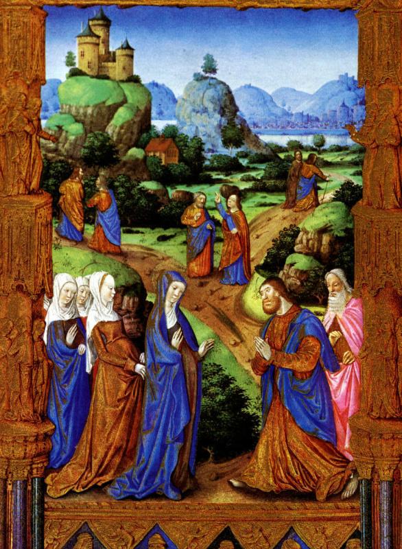 Дюк де Берри. Апостолі, идущие на проповедь